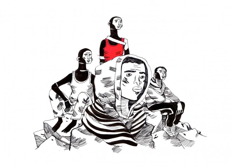 """Illustrazione tratta da """"La bolla di Ventimiglia"""", di Emanuele Giacopetti."""