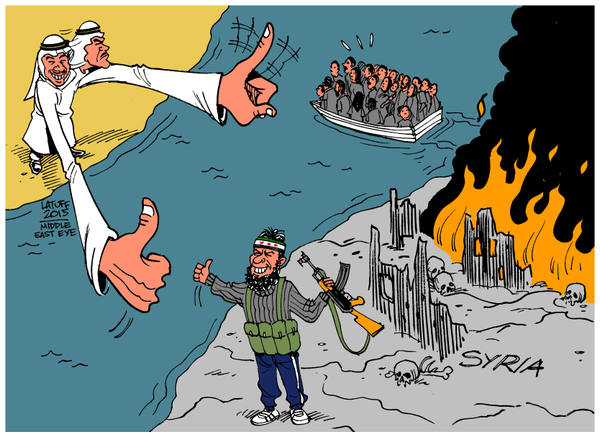 Vignetta di Carlos Latuff.