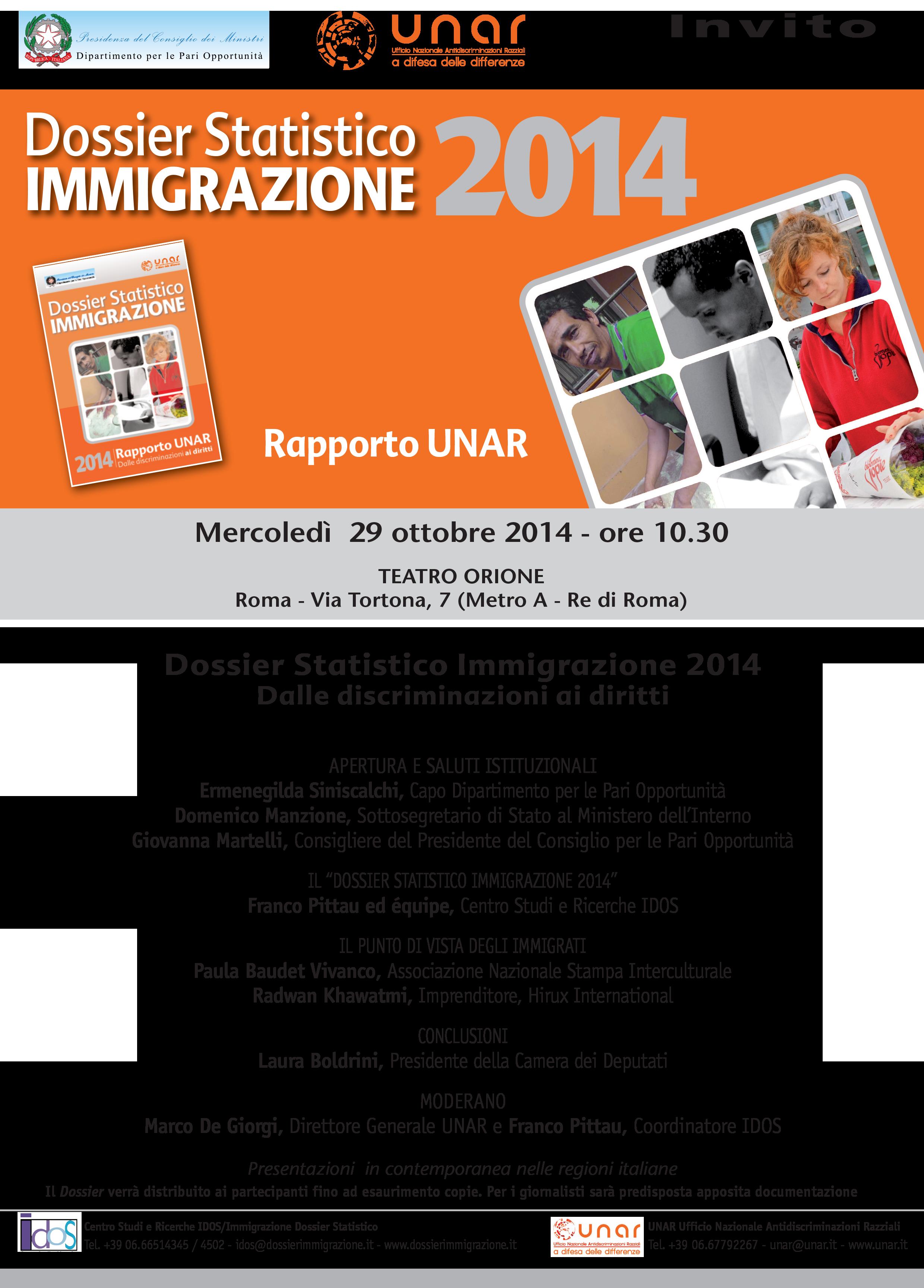 Dossier statistico immigrazione 2014