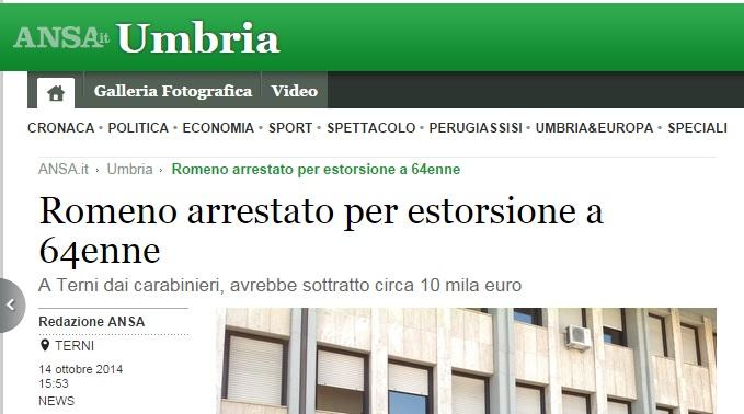 Romeno arrestato