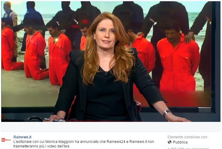 RaiNews dice basta ai video dell'Isis: non vogliamo diventare parte della loro propaganda