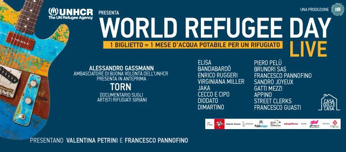 UNHCR: a Firenze grandi artisti sul palco per il World Refugee Day Live