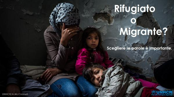 Rifugiato o migrante: qual è corretto?