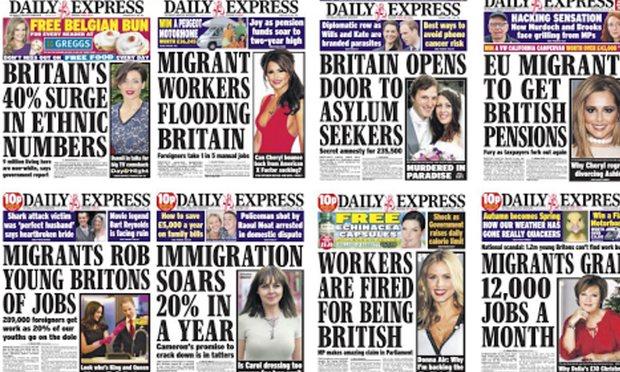 Quelle storie ripetute all'infinito dalla stampa del Regno Unito