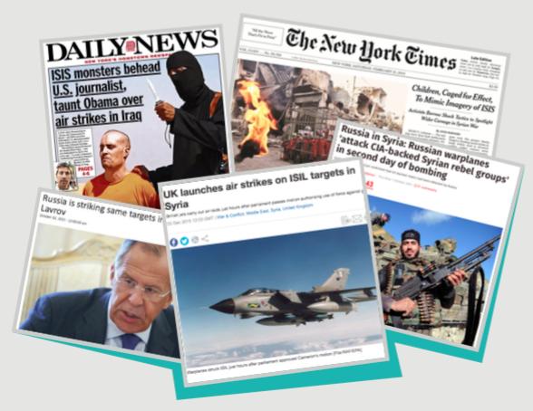 """""""Syria in Global Media"""", ricerca condotta da Felm, analizza la copertura mediatica del conflitto scoppiato nel 2011."""