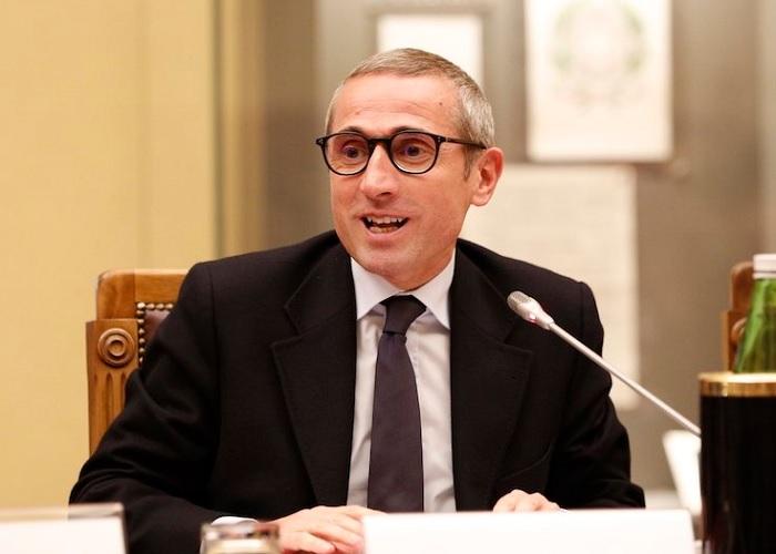 """Il segretario generale della Fnsi, Raffaele Lorusso, al convegno """"Giornalismo e bufale"""". Foto @Montecitorio."""