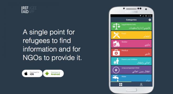 Rufugee aid app, sullo smartphone un'app per rifugiati e migranti