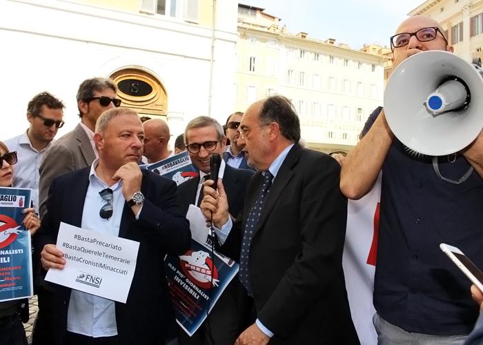 """""""Libertà precaria, lavoro precario, vite precarie"""": Fnsi e Odg 22 novembre in piazza Montecitorio"""