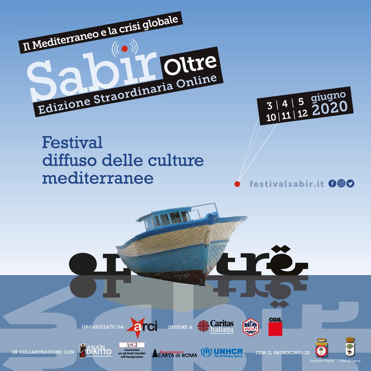 'Sabir 2020 Oltre. Il Mediterraneo e la crisi globale': edizione straordinaria online